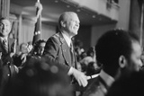 President Ford Smiles at Crowd on Arrival for Debate with Jimmy Carter, Sept. 13, 1976 Posters