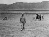 General Leslie Groves at the Site of the First Atomic Bomb Blast Site at Alamogordo, NM, July 1945 Prints