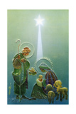 Center Warshaw Collection of Business Americana Series: Christmas Religious Madonna and Child - Giclee Baskı