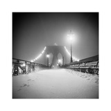 Bridge and Blizzard Photographic Print by Evan Morris Cohen