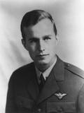 Future US President George H.W. Bush as a Navy Pilot During World War II, Ca. 1942 Photo
