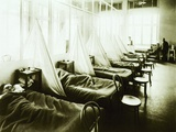 Influenza Ward at US Army Hospital in Aix-Les-Bains, France During Spanish Flu Epidemic of 1918-19 Photo