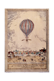Air and Space: Lundari's Hydrogen Balloon Giclee Print