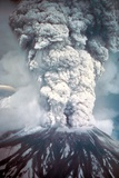 Mount St. Helens on its First Day of Eruption May 18, 1980 Photo