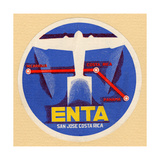 Air and Space: ENTA Baggage Label Photographic Print