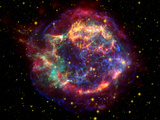 Stunning Composite Picture of Cas A,  Infrared Image from the Spitzer Space Telescope Photographic Print