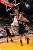 Miami, FL - JUNE 6 Chris Andersen, Matt Bonner and Tiago Splitter Photographic Print