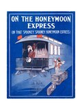 "Sheet Music Cover: ""On the Honeymoon Express"" Music by J. Kendis and F. Sti Giclee Print"
