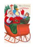 Center Warshaw Collection of Business Americana Series: Christmas Santas, Merry Christmas Grandma Giclee Print