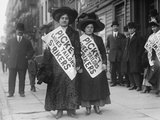 Women Strike Pickets During the New York Shirtwaist Strike of 1909 Poster