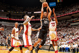 Miami, FL - JUNE 6 Tim Duncan and Norris Cole Photographic Print
