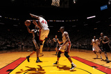 Miami, FL - JUNE 9 Tony Parker and Udonis Haslem Photographic Print