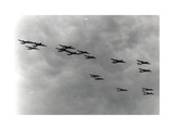 Air and Space: Boeing B-29 Superfortress in Loose Formation Giclee Print