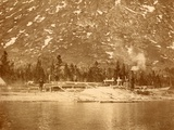 Steam-Powered Sawmill on the Shore of Lake Bennett in the Yukon Territory, 1897 Prints