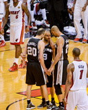 Miami, FL - JUNE 6 Manu Ginobili, Tony Parker and Tim Duncan Photo