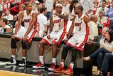 Miami, FL - JUNE 9 Chris Bosh, LeBron James and Dwyane Wade Photographic Print
