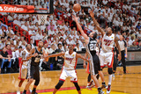 Miami, FL - JUNE 9 Manu Ginobili and Udonis Haslem Photographic Print