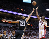 Miami, FL - JUNE 9 Dwyane Wade and Tim Duncan Photographic Print