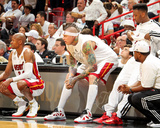 Miami, FL - JUNE 6 Ray Allen, Chris Andersen and Norris Cole Photographic Print
