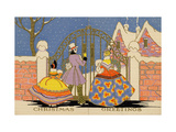Christmas Card, Opening a Gilded Iron Gate in a Stone Wall, National Museum of American History Giclee Print