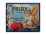 Fruit Crate Labels: Wenatchee Valley Apples; Fairy Brand Giclee Print