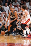 Miami, FL - JUNE 9 Tim Duncan and Mike Miller Photographic Print