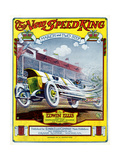 "Sheet Music Covers: ""The New Speed King"" Composed by Edwin Ellis, 1912 Giclee Print"