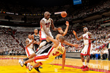 Miami, FL - JUNE 6 Tony Parker, Shane Battier and Joel Anthony Photographic Print