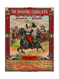 "Sheet Music Covers: ""The Dashing Cavaliers"" Composed by Edmund Braham and E. T. Paull, 1911 Giclee Print"