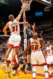 Miami, FL - JUNE 6 Tim Duncan and Shane Battier Photographic Print