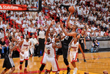 Miami, FL - JUNE 9 Tim Duncan, LeBron James and Chris Bosh Photographic Print