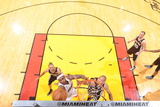 Miami, FL - JUNE 6 LeBron James and Tim Duncan Photographic Print