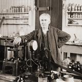 Thomas A. Edison at the Desk in His Laboratory, West Orange, NJ, Ca. 1901 Photo