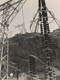 Power Station Towers and Cables at the Hoover Dam, Arizona and Nevada, 1941 Posters