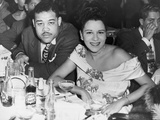 Heavyweight Champ Joe Louis and His First Wife Marva at a Night Club in 1947 Photo