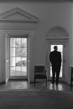 President Lyndon Johnson Looking Out Doorway of the Oval Office, Jan. 24, 1066 Photo