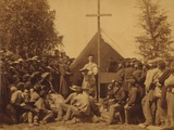 Irish-American Civil War Soldiers Attend Mass in Camp, 1861 Print
