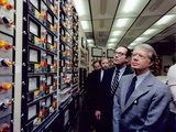 Jimmy Carter in the Control Room of Three Mile Island Nuclear Plant, April 1, 1979 Print