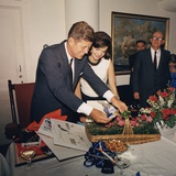 President Kennedy's Birthday Party, Given by White House Staff with Dave Powers, 1963 Photo