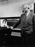 David Sarnoff at the RCA David Sarnoff Research Center, Princeton, N.J. in 1955 Posters