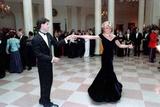 Princess Diana Dancing with John Travolta at the White House, Nov. 9, 1985 Photographic Print