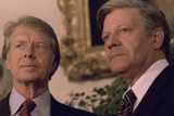 Jimmy Carter with German Chancellor Helmut Schmidt at White House, 1978 Photo