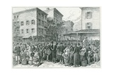Hester Street Market on New York City's Lower East Side in 1884 Prints