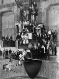 Workmen on the Giant Turbine in the Powerhouse of the Bonneville Dam, Ca. 1937 Photo