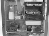 Interior of a 1940's Refrigerator Photo