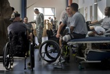Wounded Soldiers in Physical Therapy at Fort Sam Houston Texas, Nov. 17, 2008 Photographic Print