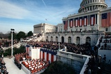 Overview of the 1981 Reagan Inauguration on the West Front of the Capitol Photographic Print