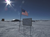American Flag at the Antarctic Research Station at the Geographic South Pole, 2009 Photographic Print