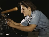 Women Worker Finishing Airplane Parts at Consolidated Aircraft Corp., Texas, 1942 Photo