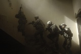 US Soldiers Clear a Staircase During a Training Exercise with Iraqis on June 2009 Photographic Print
